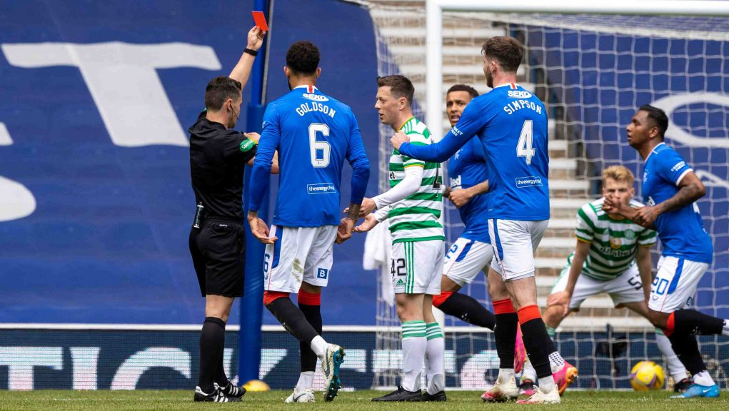 McGregor was sent off after being shown a second yellow card in the 26th minute.