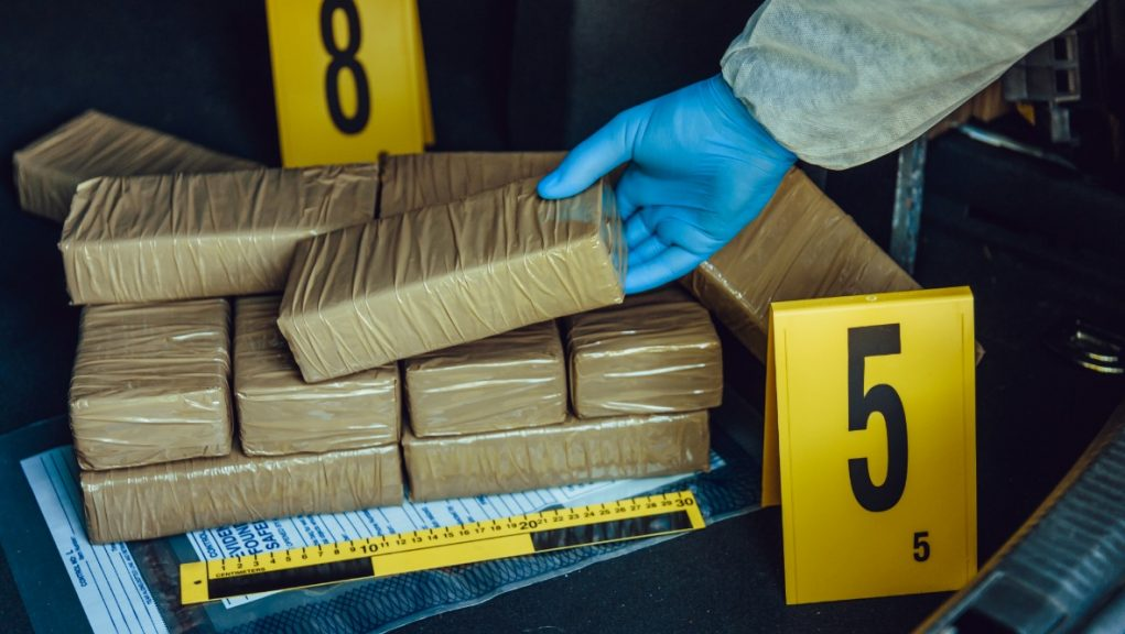Drugs haul: Cocaine worth £2m seized from van.