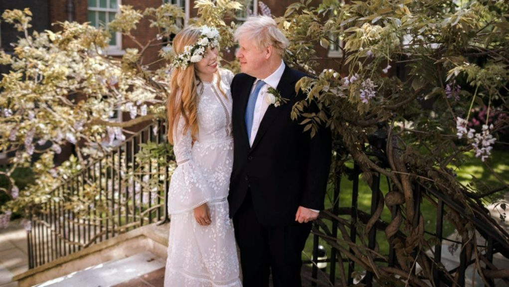 Just married: Boris Johnson and Carrie Symonds tied the knot on Saturday.