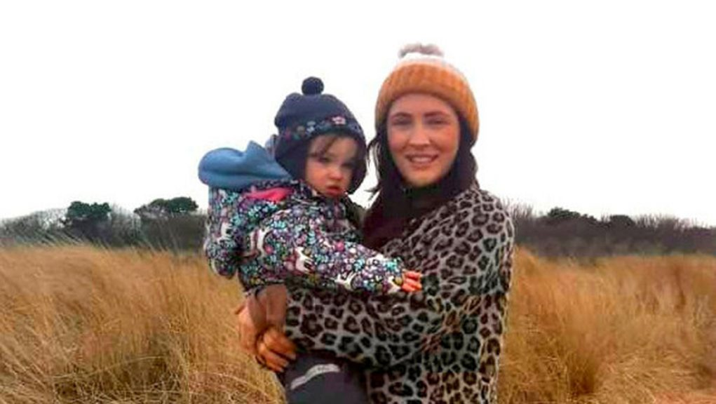 Stephanie Kent with her daughter Flora.