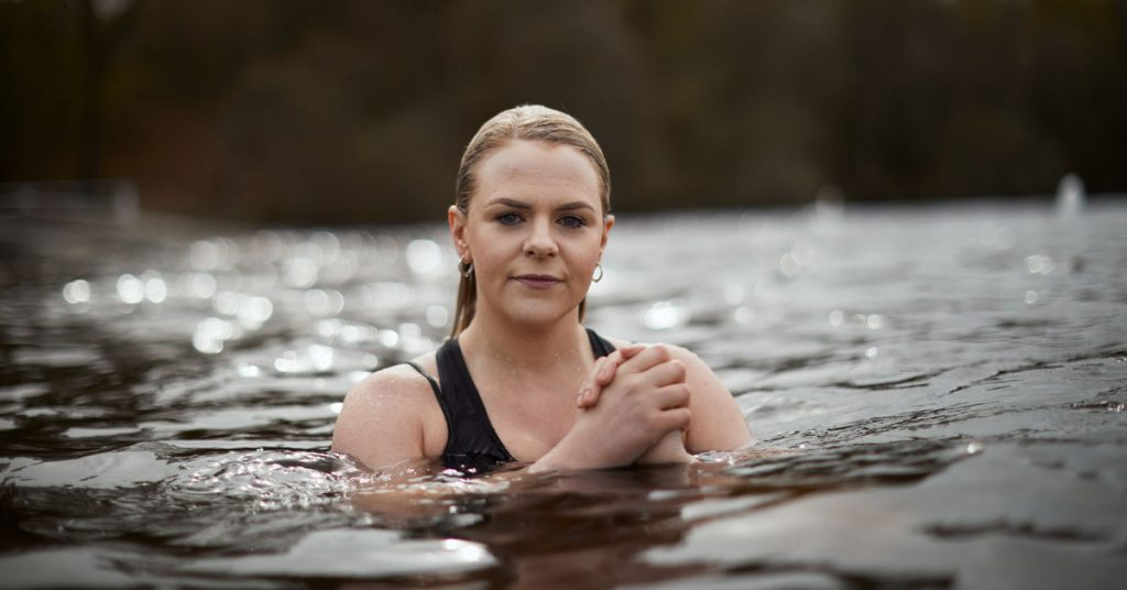 Danielle McGinlay, a 30-year-old healthcare support worker, said being in the cold water allows her mind to be completely still.