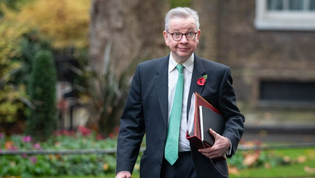 Cabinet office minister: Michael Gove.
