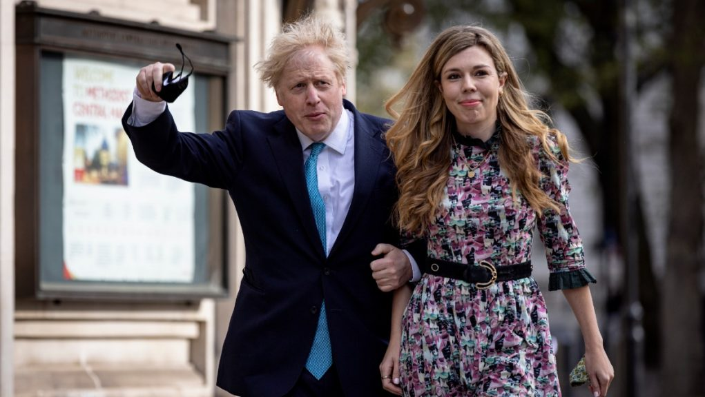 Couple: Boris and Carrie Johnson expecting second child together.