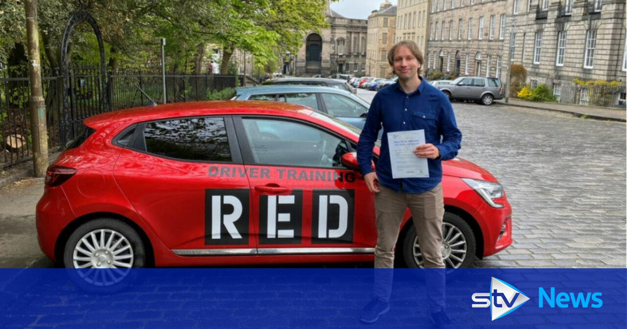 Driver plans trip after passing test on first day they resumed