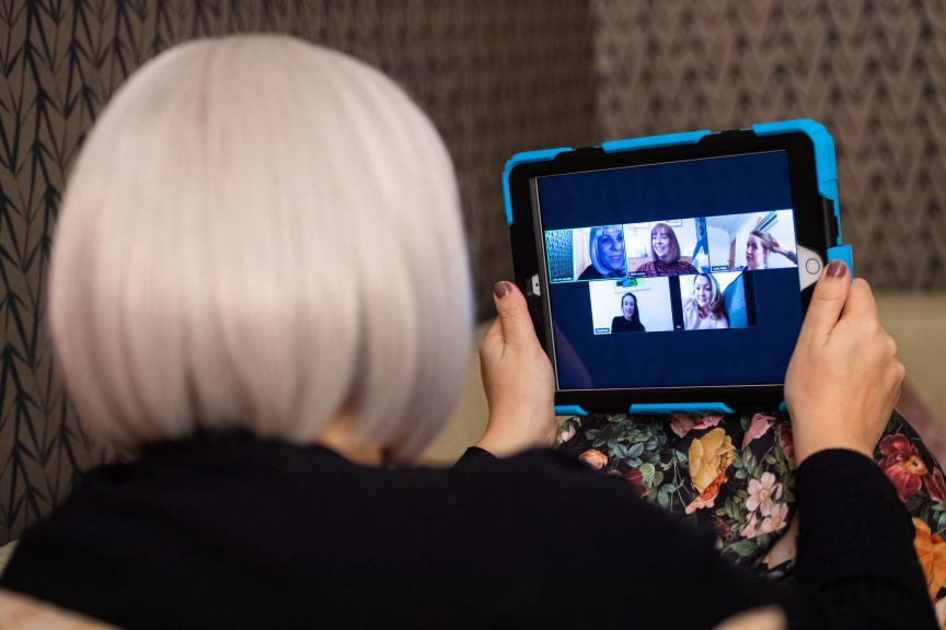 New study finds older people are embracing technology to beat loneliness during pandemic.