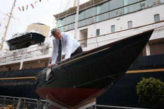 Restored royal yacht once owned by Duke of Edinburgh joins historic fleet.
