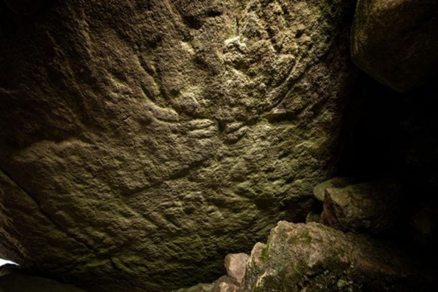 Argyll: The carvings were discovered by chance in an ancient burial site.