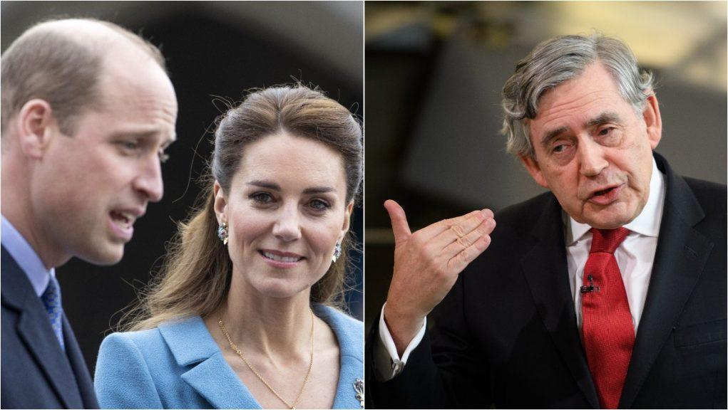 Duke and Duchess of Cambridge held talks with Gordon Brown in Edinburgh.