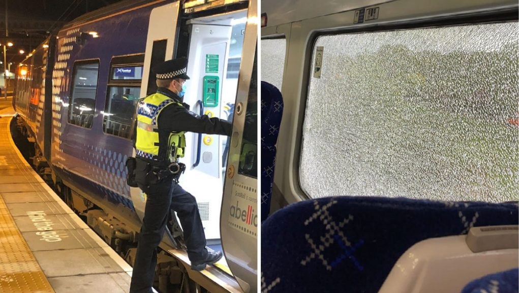 The incident happened near Barnhill and stopped the 16.39 service.