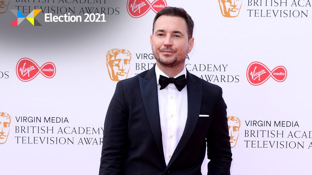 Martin Compston has called on Scots to back Nicola Sturgeon in Thursday's election.