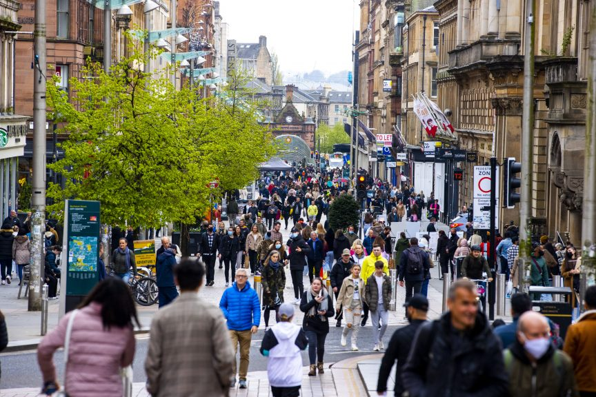 Restrictions in Scotland were eased in July.