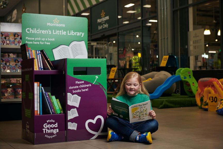 The Morrisons Little Library will be set up in all Scottish stores this week.