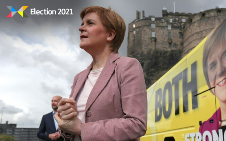 Sturgeon: Hoping for SNP majority.