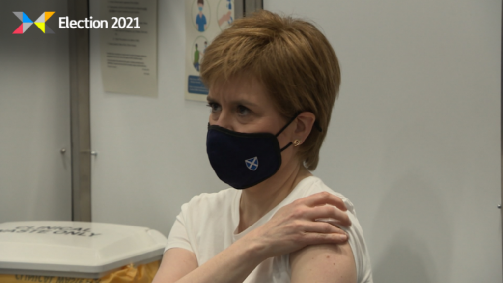Sturgeon: Dismissed vaccine claims as 'nonsense'.