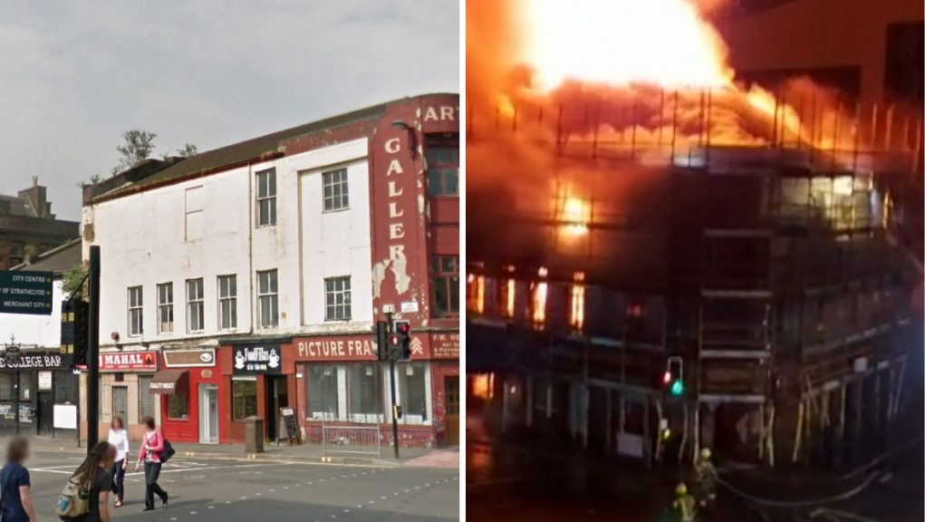The building, once home to one of the city's oldest pubs, has suffered significant damage.