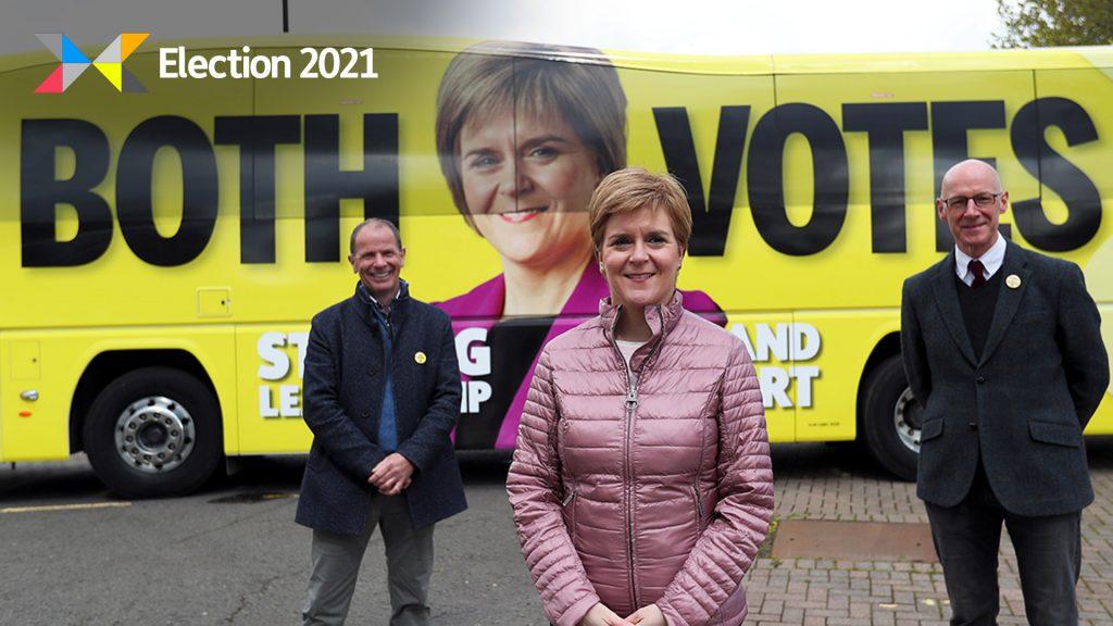SNP leader Nicola Sturgeon on the campaign trail in Perth.