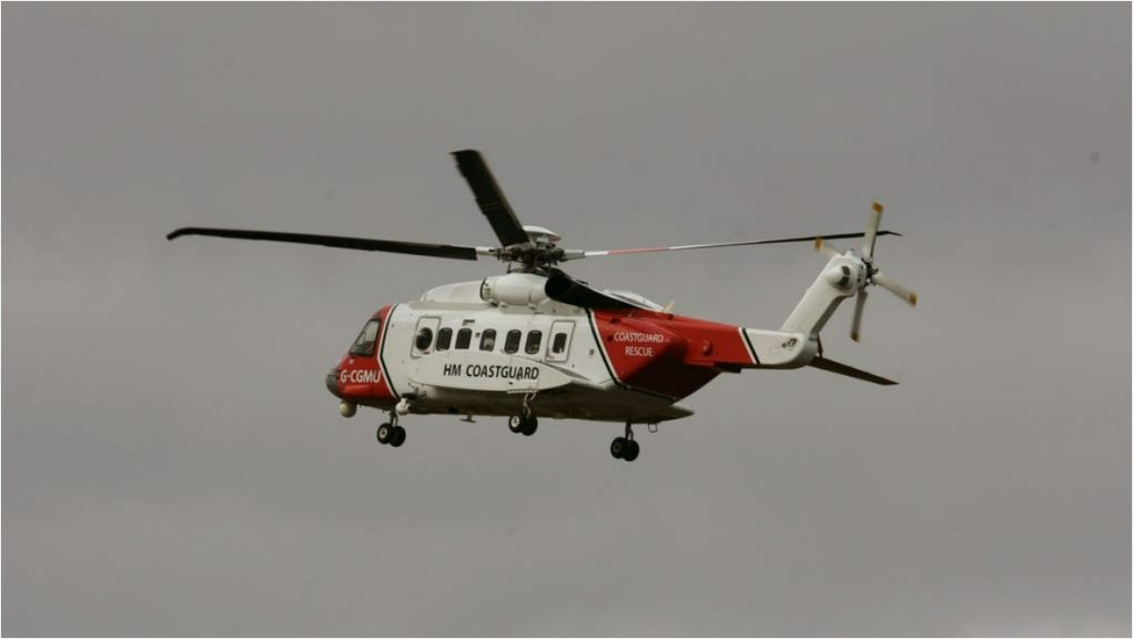 The man was pulled from the sea by the crew of a Coastguard search and rescue helicopter (Andrew Milligan/PA)