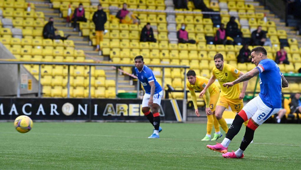 James Tavernier's penalty put Rangers on the road to victory.