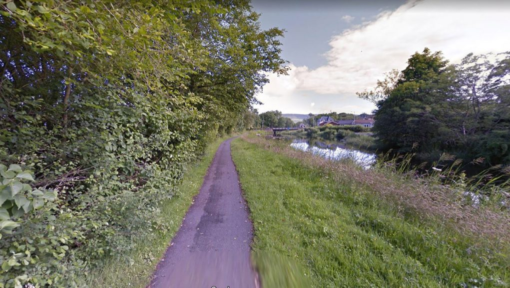 Woman was attacked on canal footpath in Kirkintilloch.