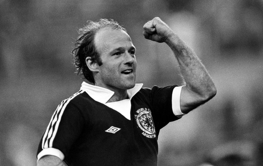 Wonder goal: Gemmill celebrates scoring against Holland in 1978.
