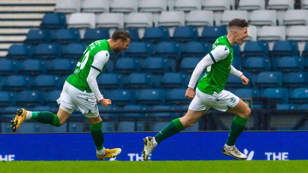 Kevin Nisbet put Hibernian on the road to victory.