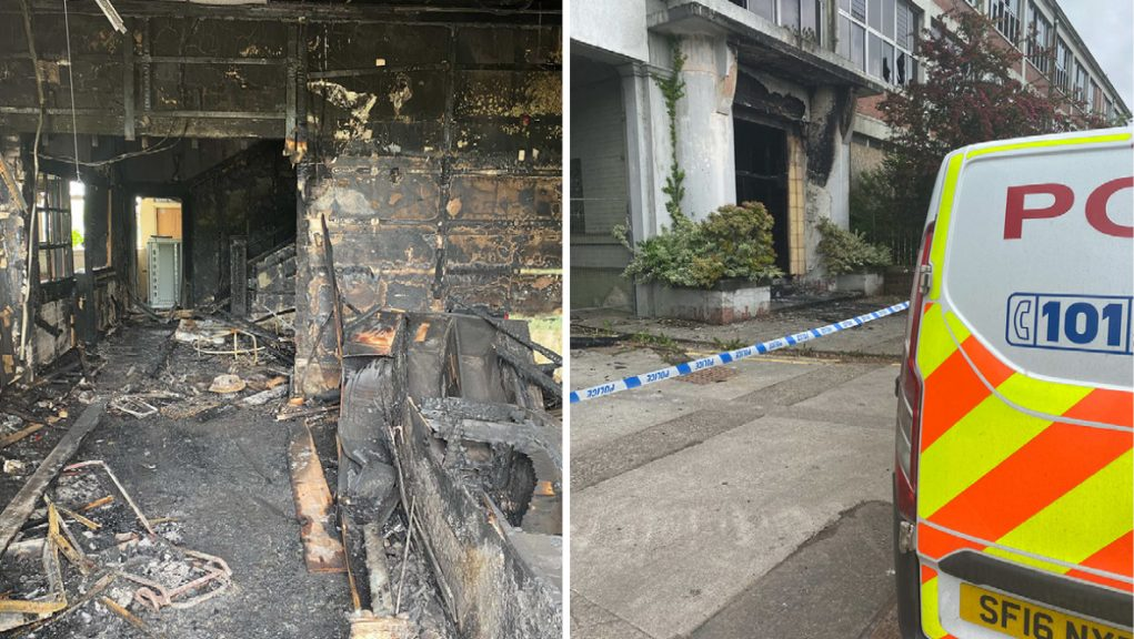Blaze: Police have appealed to the public for help in their investigation into the fire.
