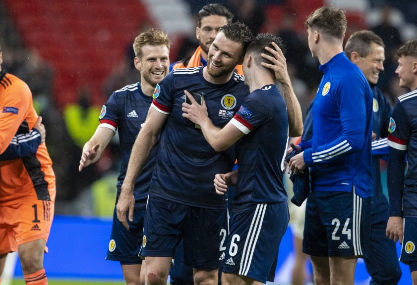 Scotland gained a point after drawing 0-0 with England at Wembley on Friday.