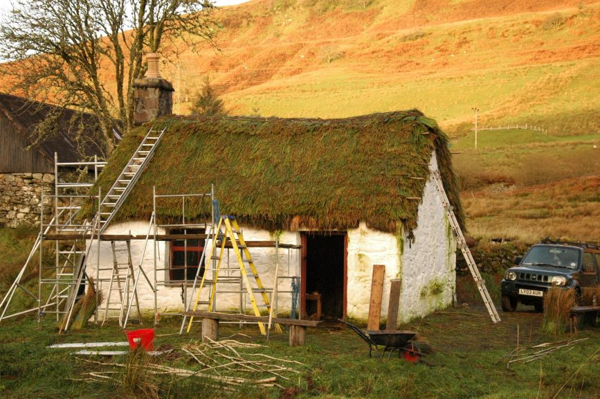 Endangered: Highland thatching could be in danger of disappearing.