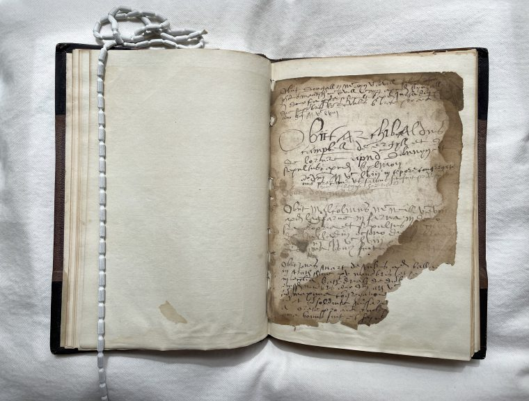 Manuscript: Treasured document secured by The National Library of Scotland.