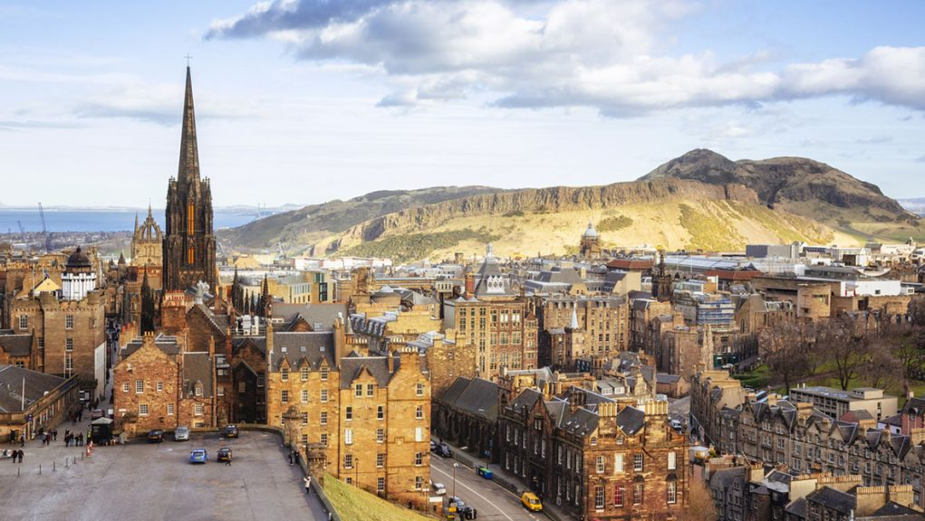 View over Edinburgh's Old Town.