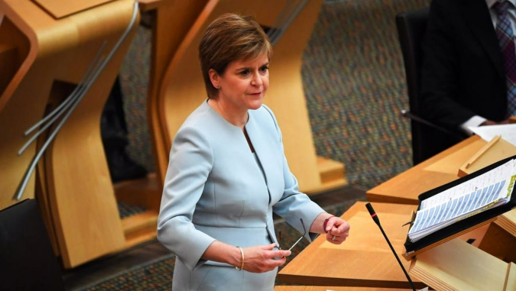 First Minister: Nicola Sturgeon is due to make an announcement at Holyrood on Tuesday.