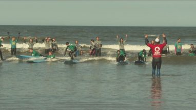 Young people in Fife are enjoying surf therapy sessions.