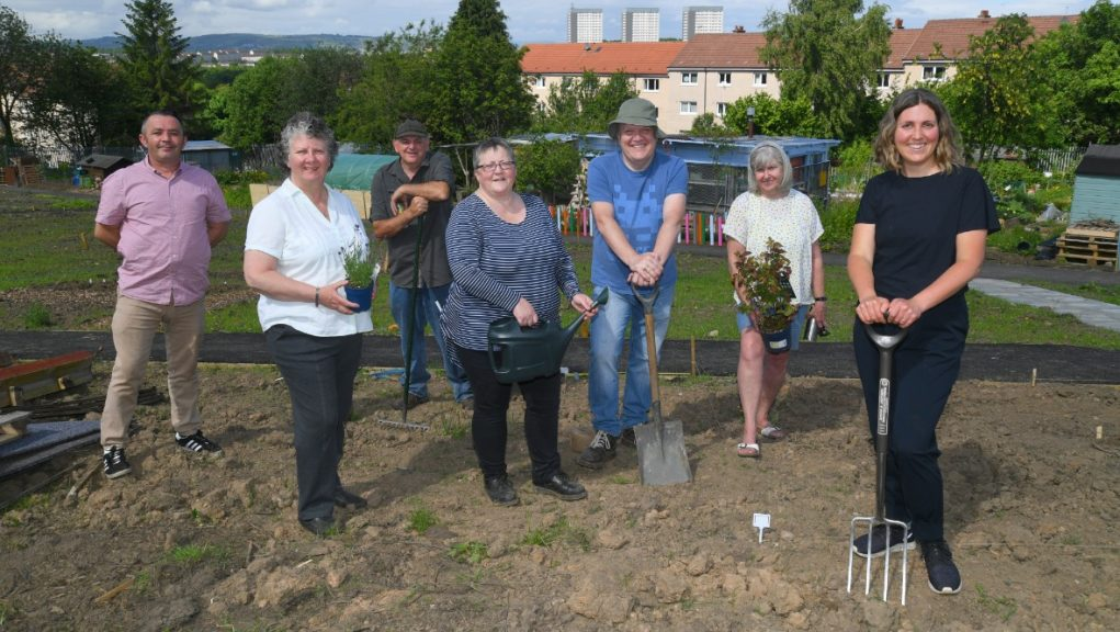 Demand: More than 250 new food growing plots are being created across Glasgow.