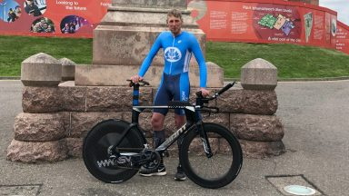 Robbie Mitchell cycled the NC500 route in just under 29 hours and six minutes.