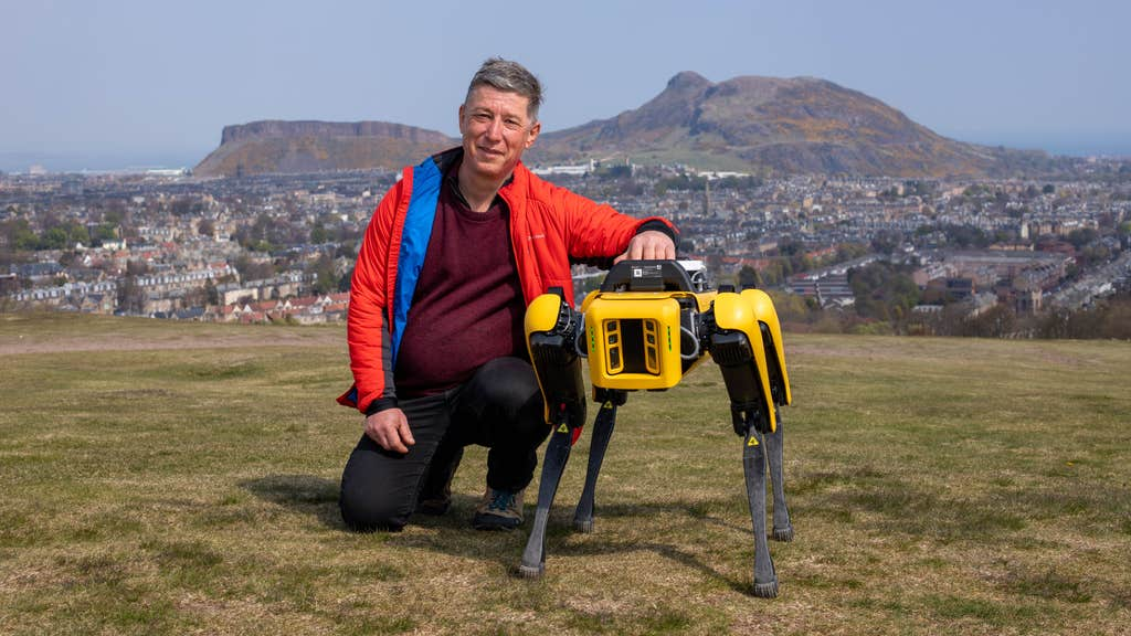 The robot is believed to be the first of its kind in Scotland.