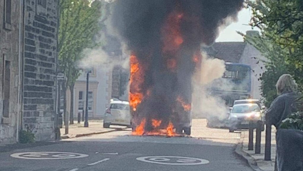 Blaze: Pupils evacuated to safety after fire.