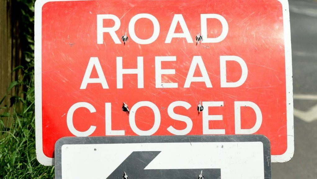Road closed: Police are appealing for witnesses to get in touch.