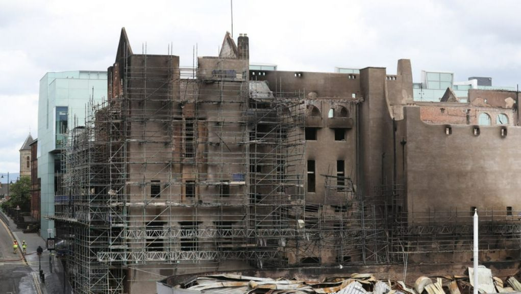 Fire: Glasgow School of Art's Mackintosh building was engulfed in flames in June 2018.