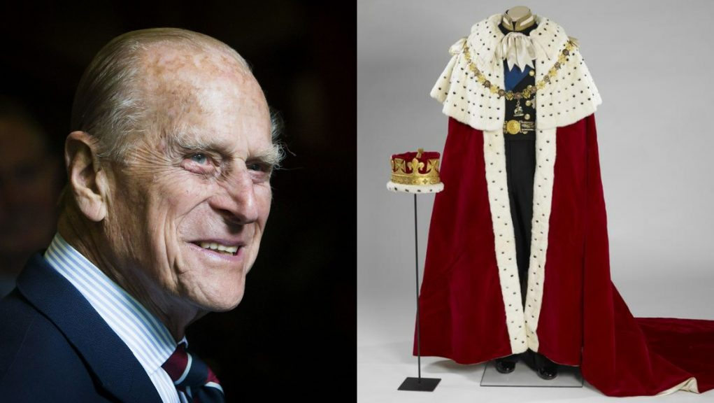 Coronation Robe and Coronet worn by the duke during the Queen's Coronation in 1953.