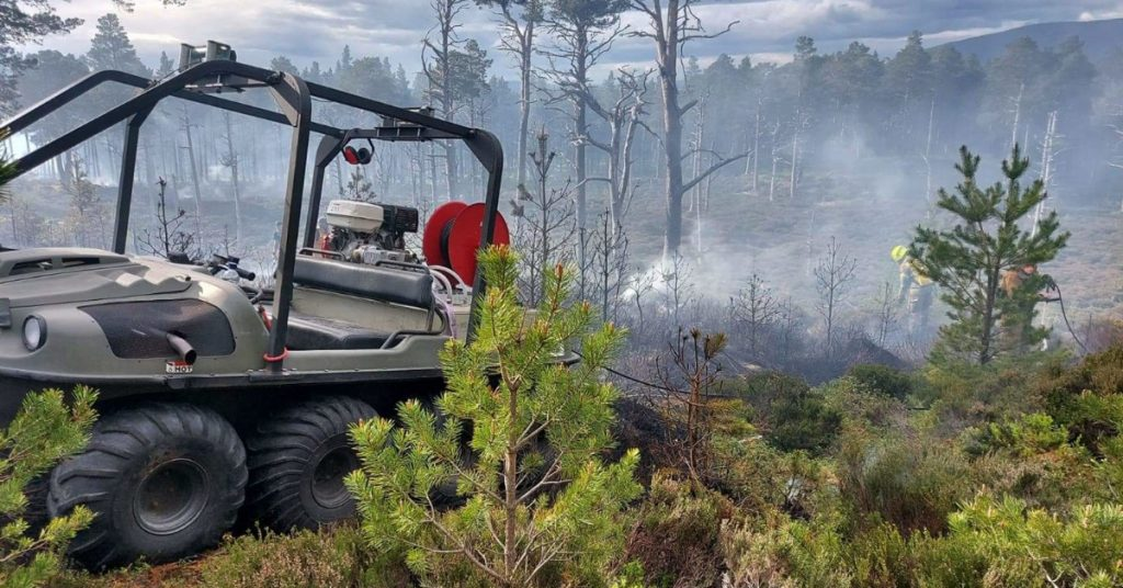 The blaze affected a huge area by Glenmore Forest Park and Loch Morlich, near Aviemore.