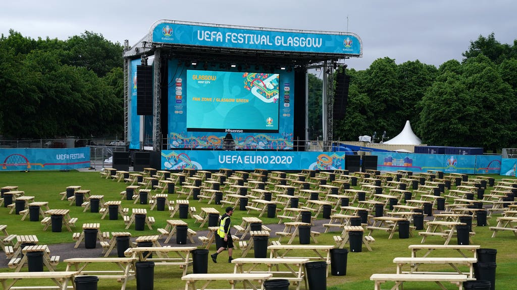 Fans will be able to watch the matches at Glasgow Green.