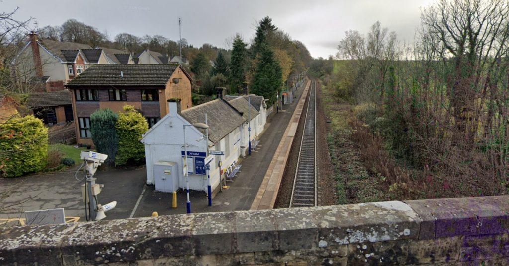 Thorntonhall railway station, South Lanarkshire.