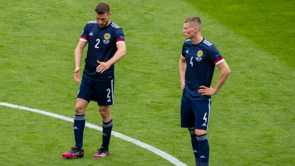 Stephen O'Donnell and Scott McTominay were left dejected by the result.