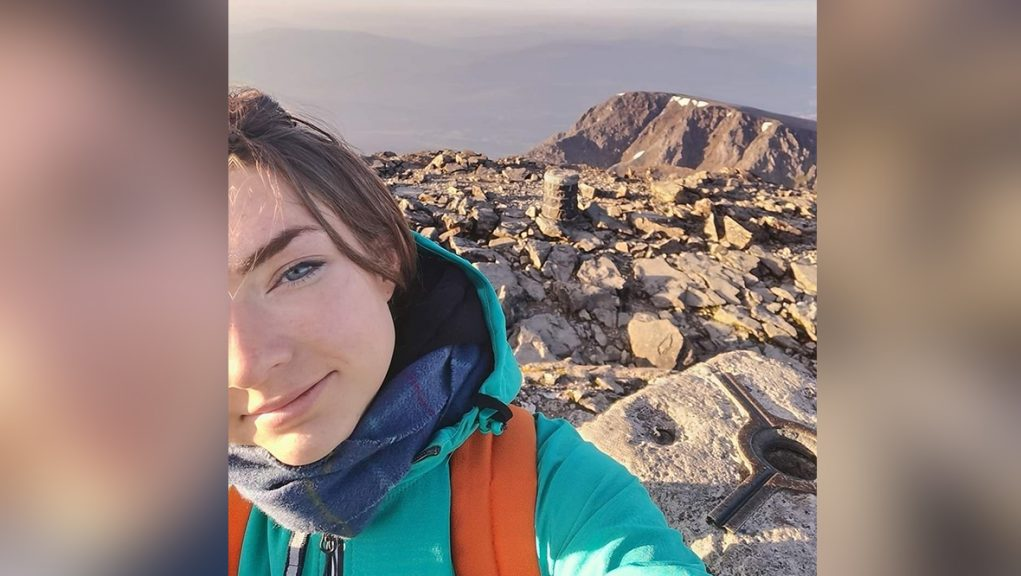Missing: Sarah Buick was last pictured at the summit of Ben Nevis on Tuesday morning.