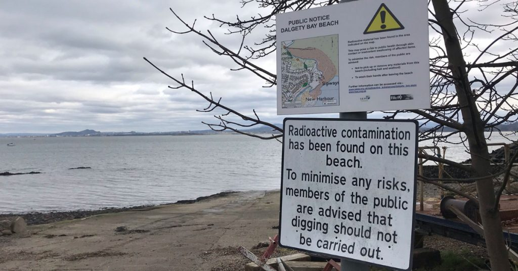 Clean-up works began in May, 30 years after radioactive materials were first discovered on the coast.