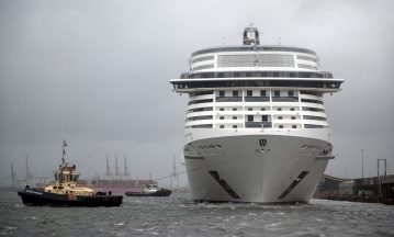 Passengers on board of a cruise ship were told they would not be allowed to disembark in Scotland.