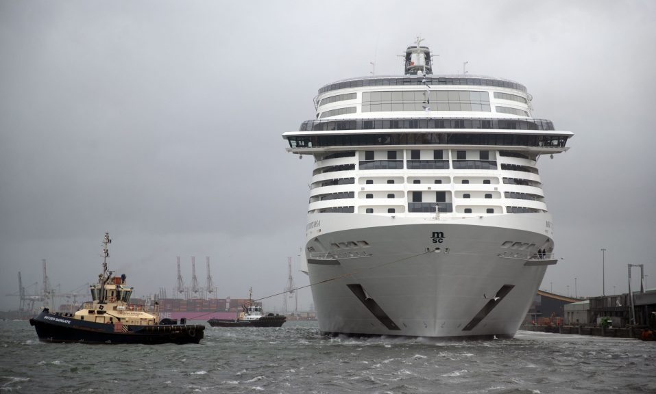 UK passengers on board of a cruise ship have not been allowed to disembark in Scotland.