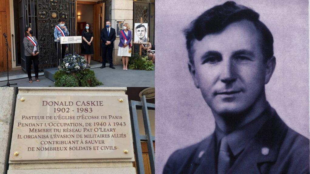 Paris: Rev Dr Donald Caskie has been commemorated on a marble plaque.