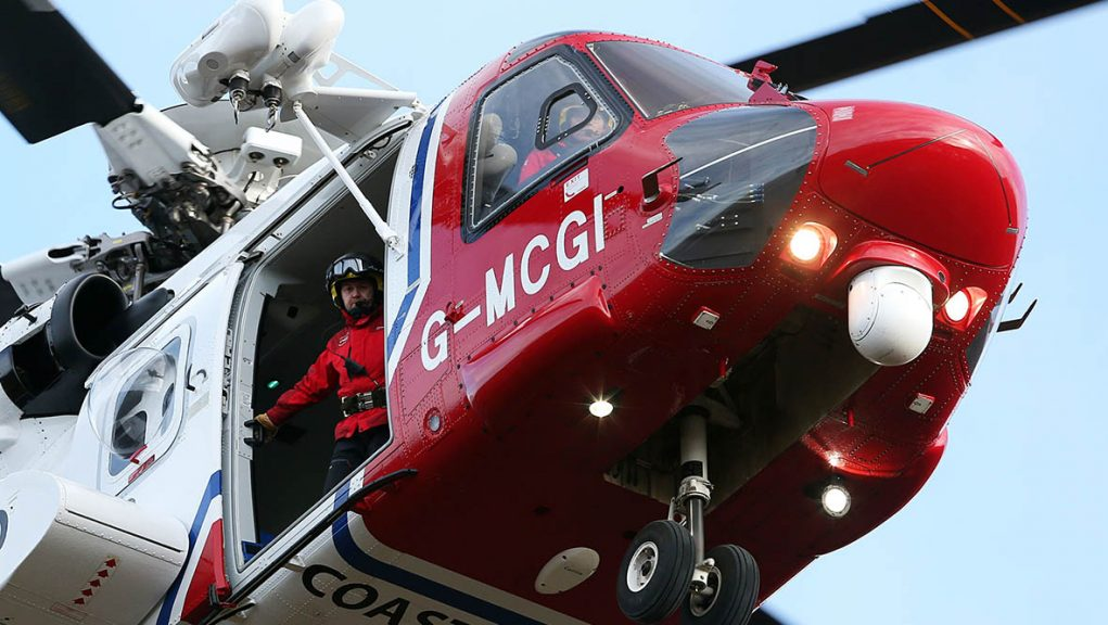 A Coastguard Search and Rescue helicopter went to the scene.