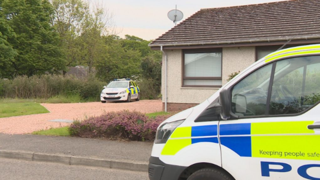 Police: A major inquiry is under way after the pensioner was found seriously injured at her home in Luncarty.